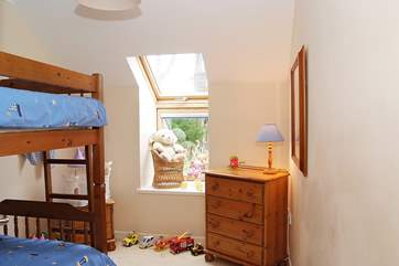 Bedroom 2 has bunk-beds.