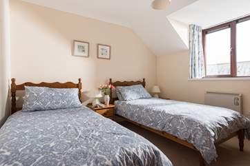 The twin bedroom (Bedroom 3) is very peaceful.