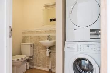 A handy utility room on the ground floor.