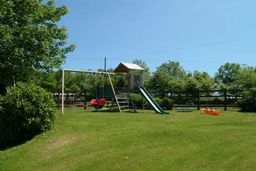 The children's play-area, just across the drive to the front of the property.