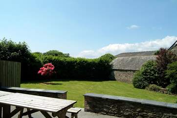 A view of the garden - you are sure to enjoy many an hour in the Cornish sunshine