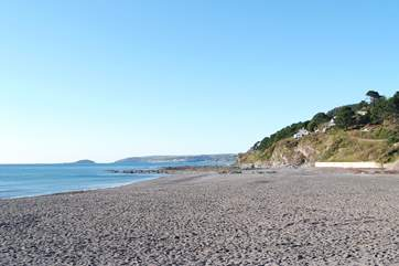 The beach at Seaton, a short drive from Butterwell.