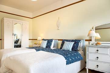 Pretty bedroom 4 has twin beds