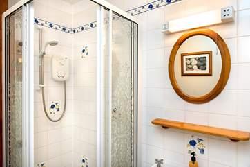 The en-suite shower room for bedroom 3
