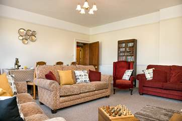 Plenty of room for everyone to chill out and relax in the lounge