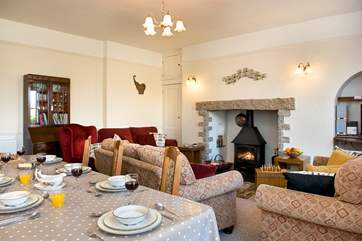 You may also chose to dine in the lounge dining room
