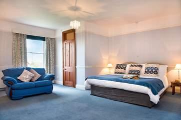 Plenty of room to lounge around in the master bedroom