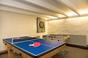 The games-room offers table-football, table-tennis, pool and darts.