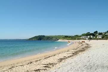 Gyllyngvase beach is less than a mile away, patrolled by lifeguards from Easter to the end of September.