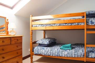 Bedroom 3 has bunk-beds.