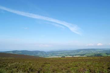 The view from Dunkery Beacon across Exmoor.