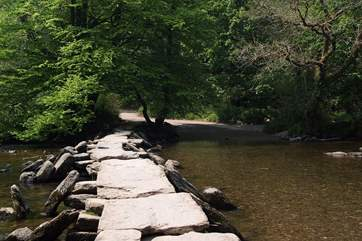 Tarr Steps is an ancient Exmoor landmark.