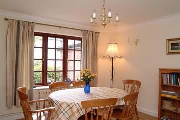 The sociable dining area.