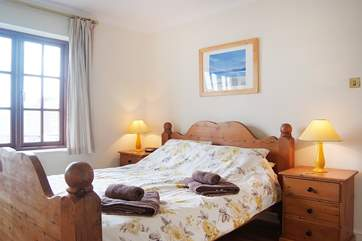 Bedroom 2 (second floor) has a king-size bed and lovely views over the marina.