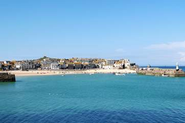 St Ives town is renowned for its harbour, restaurants and shops.