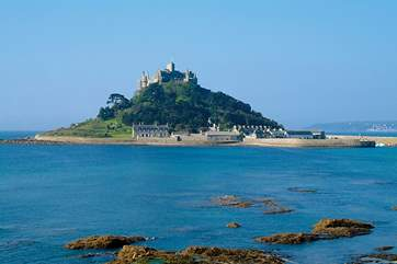 St Michael's Mount is approximately six miles from Carbis Bay.
