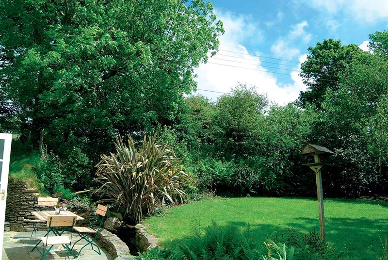 The garden is a sun-trap and ideal for al fresco dining.