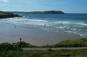 The stunning north Cornwall coast is within easy reach