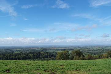 There are stunning views from the top of Bulbarrow Hill just up the road.