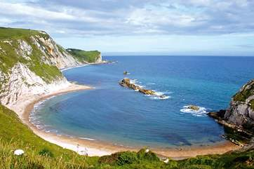 Lulworth Cove is one of Dorset's wonderful beaches and well worth a day trip.