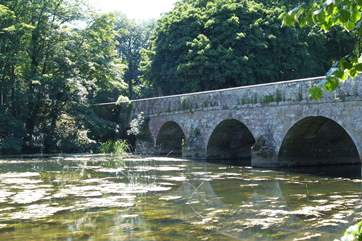 The bridge over the River Stour at Blandford Forum - lovely riverside park and walks.