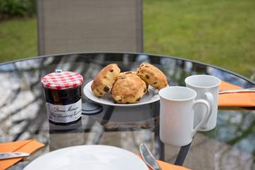 The private garden has fabulous views, the perfect place for afternoon tea.