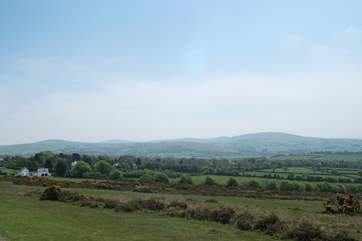 A spring view of nearby Dartmoor.