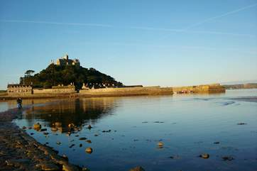 Whatever the state of the tide, whatever the weather, St Michael's Mount is stunning.