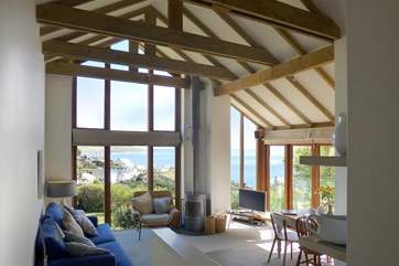 This stunning cottage with floor to ceiling glass really makes the most of the amazing location and views.