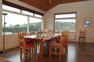 The big glass windows allow you to see the views from all areas of the huge living-room.
