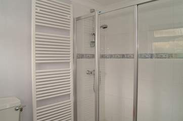 The shower-room on the ground floor has a double shower cubicle.