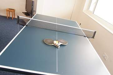 Table-tennis and table-football will bring out competitive streaks!
