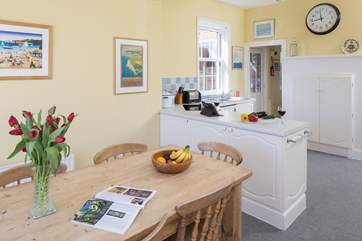 The kitchen/dining-room is a very open sociable space.