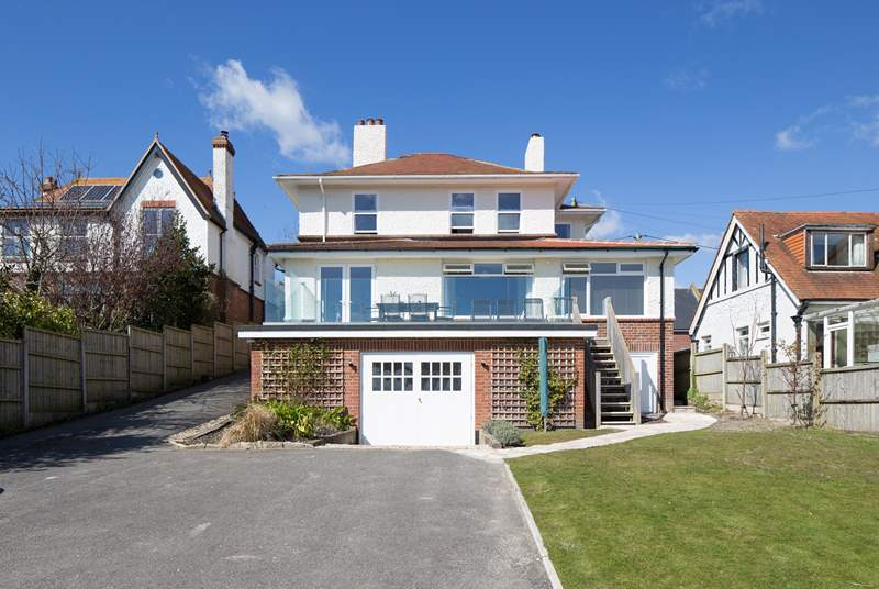Sunnyholme is in a great location, with views from the terrace across the valley and Studland Bay.