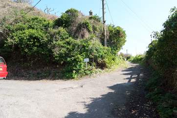 From the car park, Man o' War is about 75 yards along the footpath.