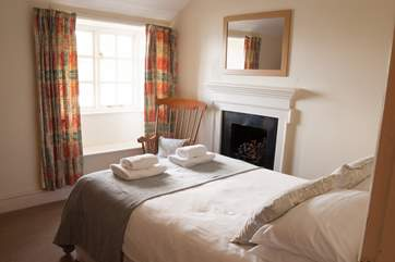 Crisp white linens on the beds and fresh fluffy towels.
