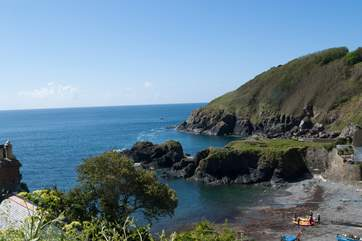 What a view across the cove from the coast path.