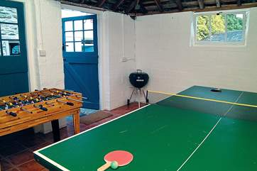 The games-room is ideal for a wet day.