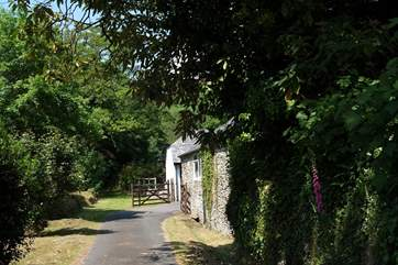 The gateway leading to the cottage.