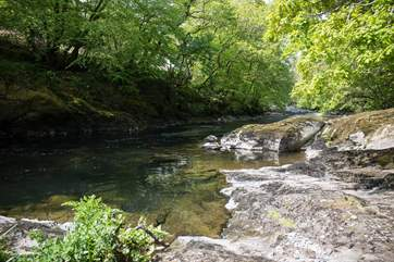 The River Tavy runs past the paddock just across the lane from the cottage. Perfect for a spot of paddling.