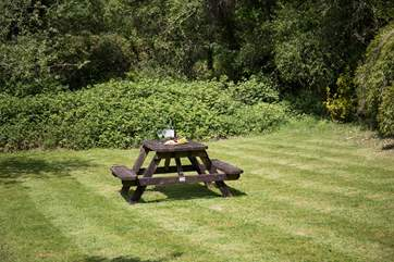 Pack a picnic and take time to enjoy this delightful spot within the grounds.