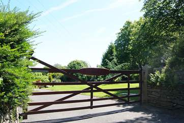 The entrance to Trevithick Park from the little access lane.