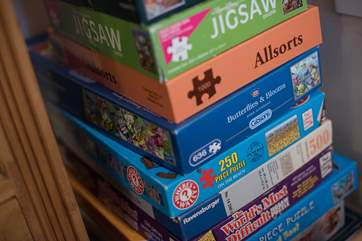 Lots of puzzles and books to keep little ones (and bigger ones!) occupied!