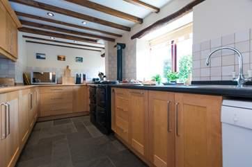 The farmhouse kitchen.