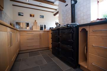 The lovely Alpha range is similar to an Aga (and also provides hot water and central heating).