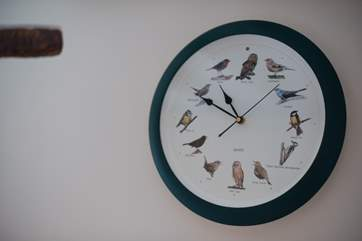This clock chirps the hour...or hoots when it's an owl!