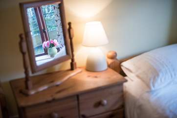 The cottage is lovingly furnished and decorated.