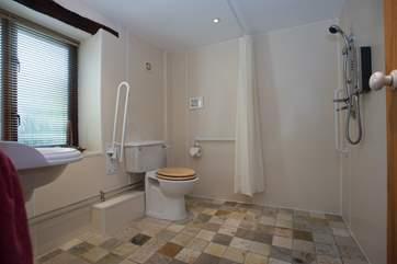 The wet-room en suite to Bedroom 1.