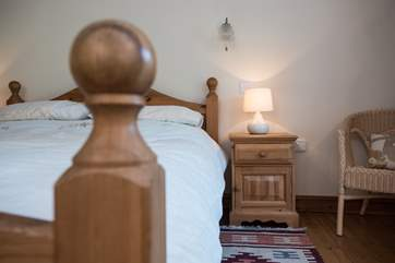 Chunky pine bedroom furniture.