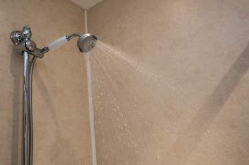 The shower head is adjustable.